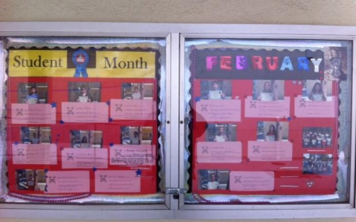 Feb Students of Month Display
