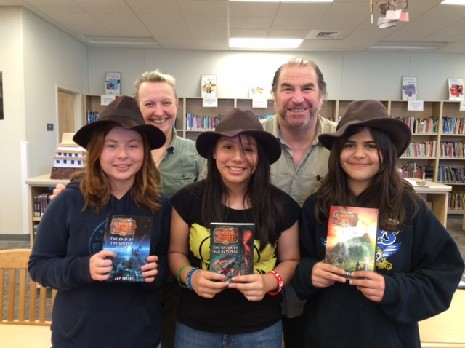 Author Team Jon & Pamela Voelkel came by to visit!